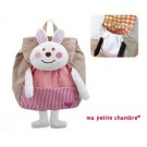 Decole Ma Petite Chambre: Cute Animal Backpack - Pink Shirt Rabbit Bunny Design