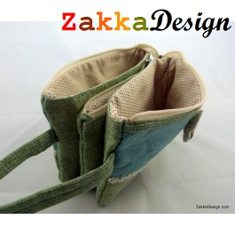ZakkaDesign 3 in 1 Pockets Make-up accessories hand pouch bag with hand strap - Green