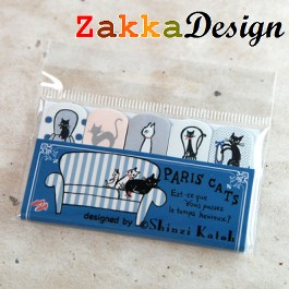 Shinzi Katoh Flag Seal: Paris Cats Design