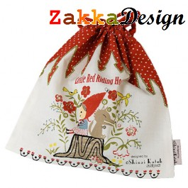 Shinzi Katoh Pouch Bag: Little Red Ridding Hood Design
