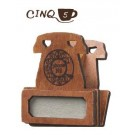 Decole Cinq Cafe Design: Telephone Shape Magnet Clip with Tag