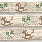 Shinzi Katoh Linen Tape: Rocking Horse (12mm) Design